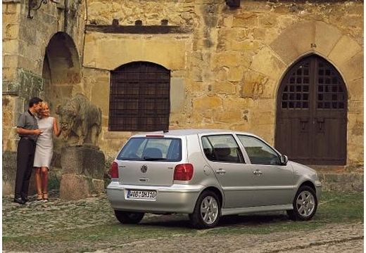 VOLKSWAGEN Polo III II hatchback silver grey tylny prawy