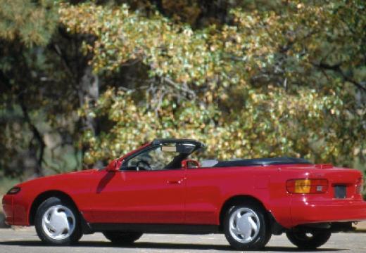 Toyota Celica kabriolet czerwony jasny boczny lewy