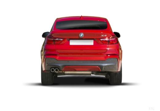 BMW X4 X 4 F26 kombi czerwony jasny tylny