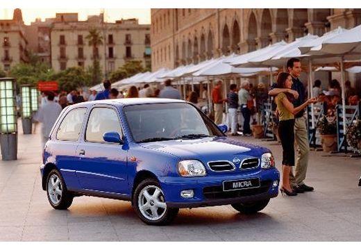 NISSAN Micra III hatchback niebieski jasny przedni prawy