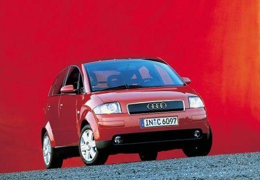 AUDI A2 hatchback czerwony jasny przedni prawy