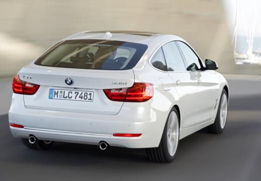 BMW Seria 3 Gran Turismo F34 I hatchback biały tylny prawy
