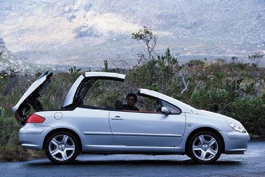PEUGEOT 307 kabriolet silver grey boczny prawy
