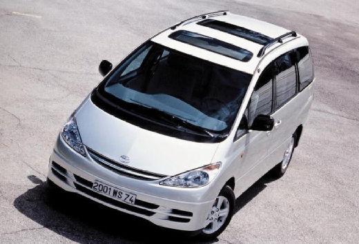 Toyota Previa II van silver grey przedni lewy
