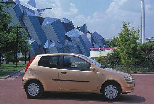 FIAT Punto II I hatchback szary ciemny boczny prawy
