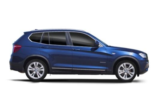 BMW X3 X 3 F25 I kombi niebieski jasny boczny prawy