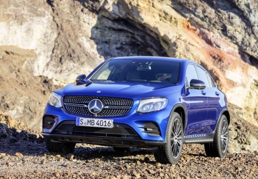 MERCEDES-BENZ Klasa GLC GLC Coupe C 253 I hatchback niebieski jasny przedni lewy