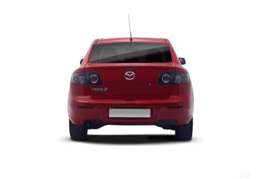 MAZDA 3 II sedan czerwony jasny tylny