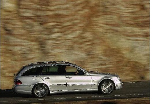 MERCEDES-BENZ Klasa E S 211 II kombi silver grey boczny prawy