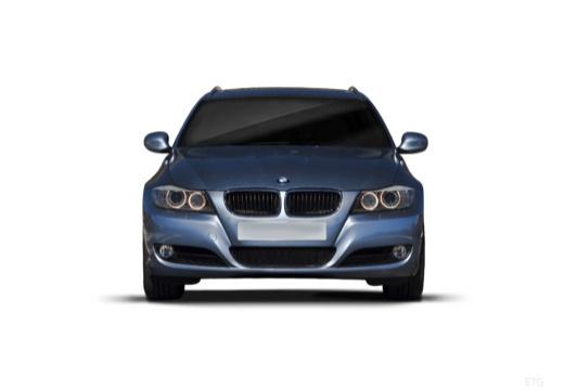 BMW Seria 3 Touring E91 II kombi niebieski jasny przedni