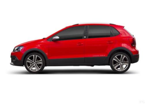 VOLKSWAGEN Polo V I hatchback czerwony jasny boczny lewy