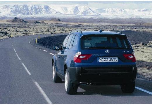BMW X3 X 3 E83 I kombi niebieski jasny tylny lewy