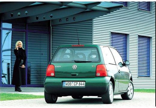 VOLKSWAGEN Lupo hatchback zielony tylny prawy