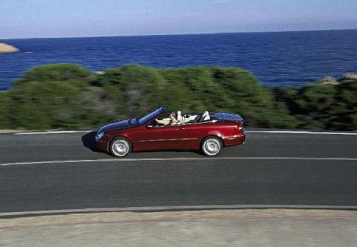 MERCEDES-BENZ Klasa CLK CLK Cabriolet A 209 II kabriolet bordeaux (czerwony ciemny) boczny lewy
