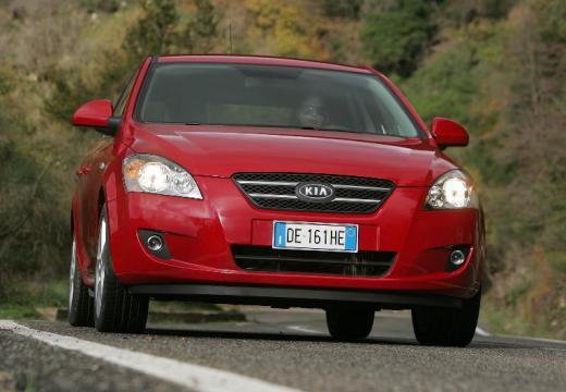 KIA Ceed hatchback czerwony jasny przedni prawy