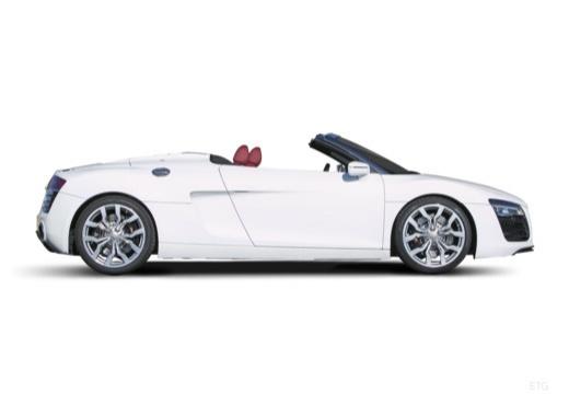 AUDI R8 Spyder II roadster biały boczny prawy