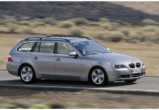 BMW Seria 5 Touring E61 I kombi silver grey przedni prawy