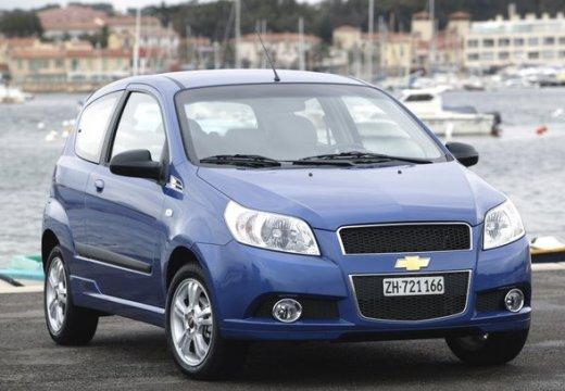 CHEVROLET Aveo hatchback niebieski jasny przedni prawy