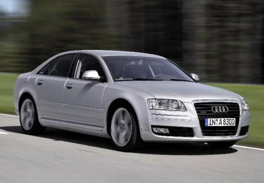 AUDI A8 sedan silver grey przedni prawy