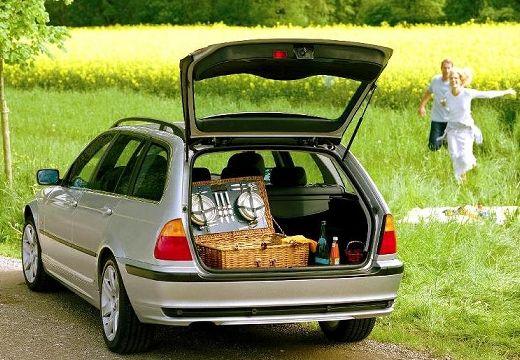 BMW Seria 3 kombi silver grey przestrzeń załadunkowa