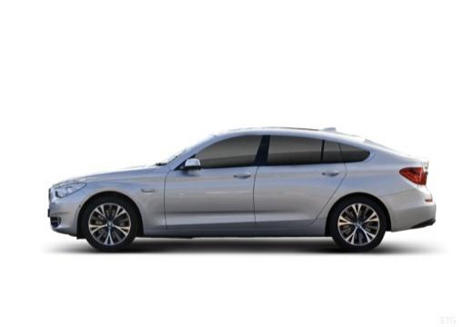BMW Seria 5 Gran Turismo hatchback silver grey boczny lewy