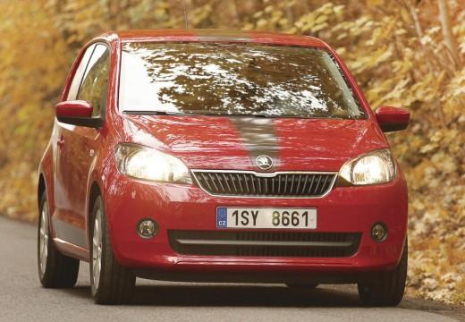 SKODA Citigo hatchback czerwony jasny przedni prawy