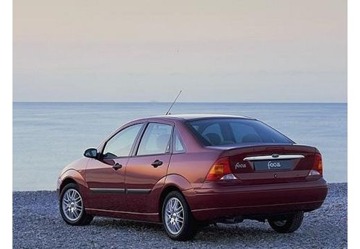 FORD Focus II sedan bordeaux (czerwony ciemny) tylny lewy
