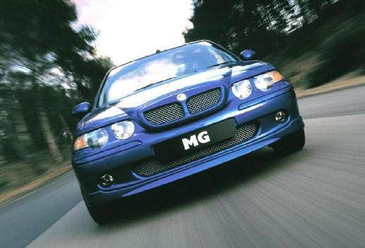 MG ZS sedan niebieski jasny przedni
