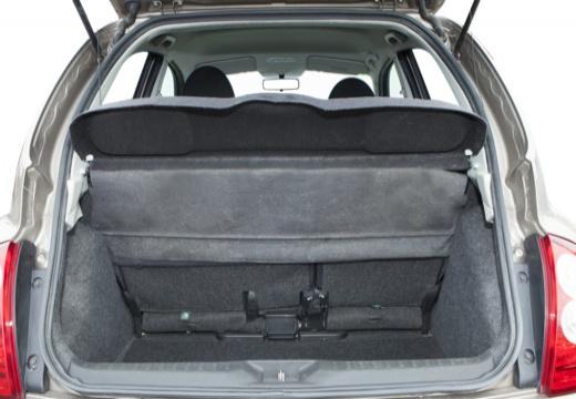 NISSAN Micra VII hatchback przestrzeń załadunkowa