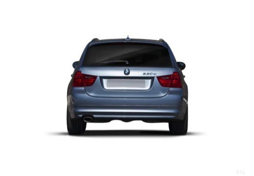 BMW Seria 3 Touring E91 II kombi niebieski jasny tylny