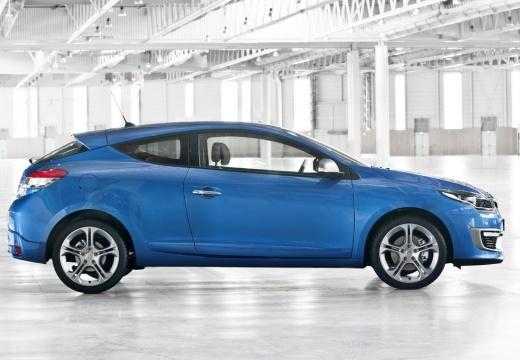 RENAULT Megane III Coupe III hatchback niebieski jasny boczny prawy