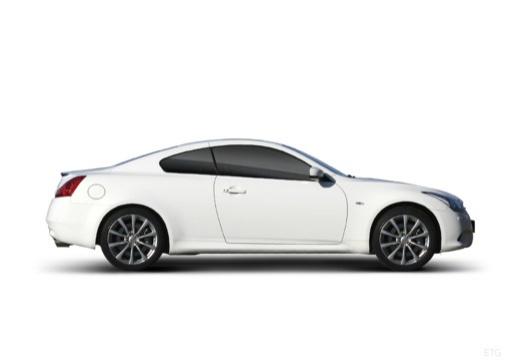 INFINITI G37 coupe biały boczny prawy