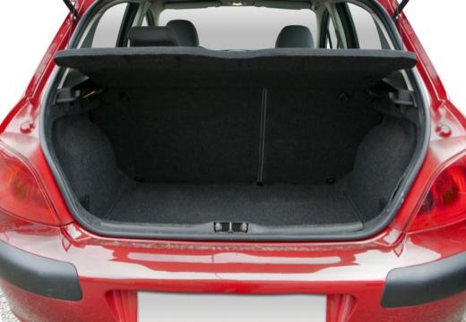 PEUGEOT 307 I hatchback przestrzeń załadunkowa