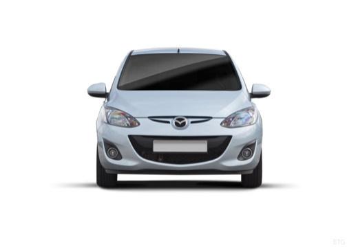 MAZDA 2 III hatchback silver grey przedni