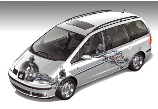 SEAT Alhambra II van silver grey prześwietlenie