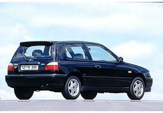 NISSAN Sunny II hatchback czarny tylny prawy