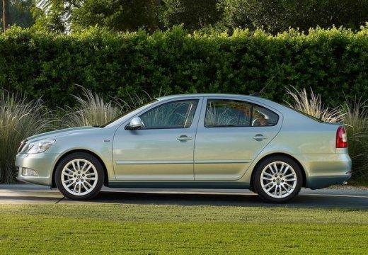 SKODA Octavia II II hatchback silver grey boczny lewy