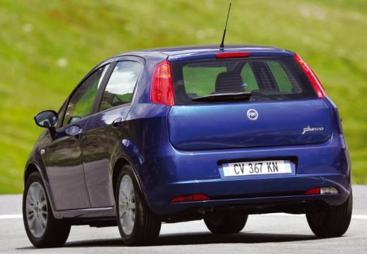 FIAT Punto Grande hatchback niebieski jasny tylny lewy