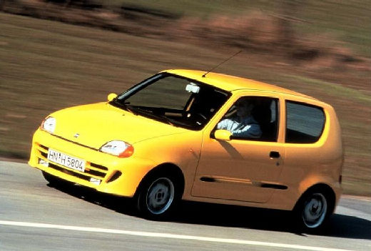FIAT Seicento I hatchback żółty przedni lewy