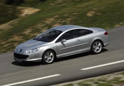 PEUGEOT 407 coupe silver grey przedni lewy