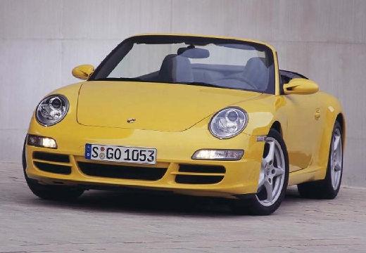 PORSCHE 911 Cabrio 997 kabriolet żółty przedni lewy