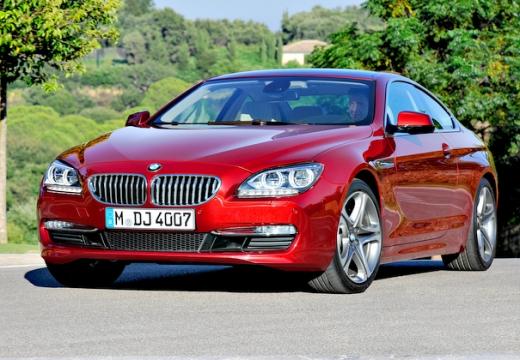 BMW Seria 6 coupe czerwony jasny przedni lewy