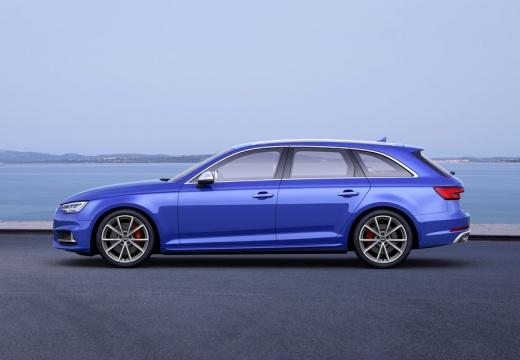 AUDI A4 Avant I kombi niebieski jasny boczny lewy