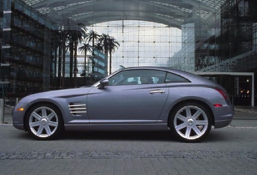CHRYSLER Crossfire I coupe silver grey boczny lewy