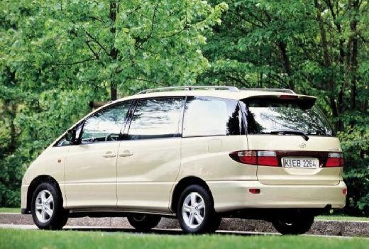Toyota Previa van złoty tylny lewy