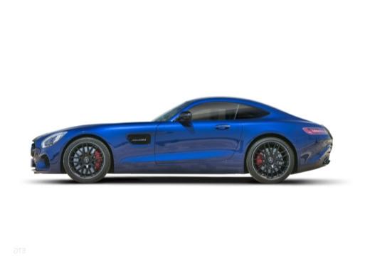 MERCEDES-BENZ Mercedes AMG GT coupe niebieski jasny boczny lewy