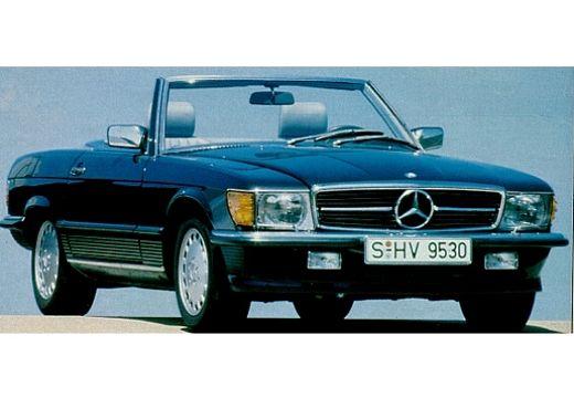 MERCEDES-BENZ Klasa SL 300-560SL R107 kabriolet niebieski jasny przedni prawy