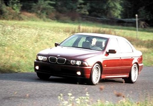 BMW Seria 5 E39 sedan bordeaux (czerwony ciemny) przedni lewy