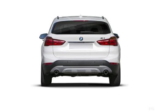 BMW X1 X 1 F48 I kombi biały tylny