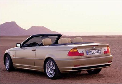 BMW Seria 3 kabriolet złoty tylny lewy
